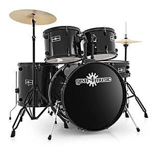 BDK-1 Anfänger-Schlagzeug in Standardgröße von Gear4music schwarz