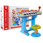 Digitalpiano E-Piano Keyboard Mit Schlagzeug 3 Octaven - Blau