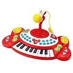 WinFun Kinder Keyboard Piano Klavier Spielzeug mit 18 Tasten Soundeffekte