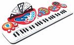 Winfun 49 Tasten Kinder Keyboard Piano 8 Instrumente mit Licht Aufnahme