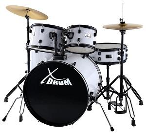 XDrum Rookie 2 Fusion Schlagzeug Komplettset White inkl Schule