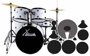 XDrum Rookie Schlagzeug Set Drumset Weiß