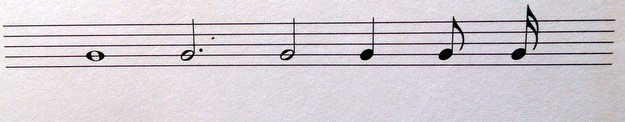 Notenwerte auf dem Klavier