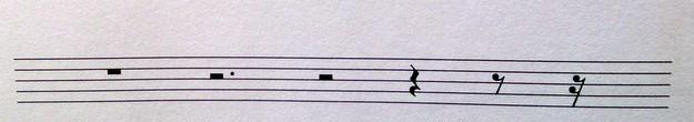 Pausenwerte auf dem Klavier
