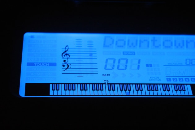 beleuchtestes Keyboard Display