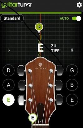 Gitarre stimmen mit App