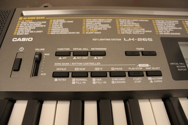 Casio LK 265 Keyboard Einstellungen