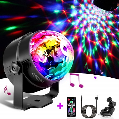 Techole Discokugel LED Party Lampe