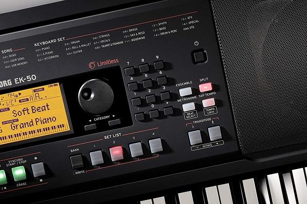 Korg EK-50 Keyboard Ausstattung