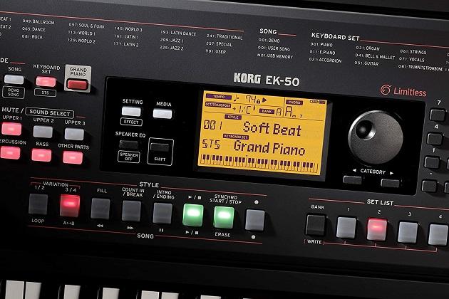 Korg EK-50 Keyboard Funktionen