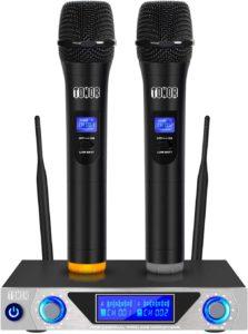 Funkmikrofon System, drahtloses TONOR UHF Metall Mikrofon Set