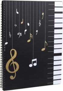 Notenmappe für Notenblätter beim Spielen A4 Größe