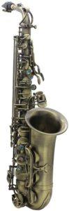 ammoon Hochwertige Antikfinish Bend Eb Es-Dur-Alt-Saxophon