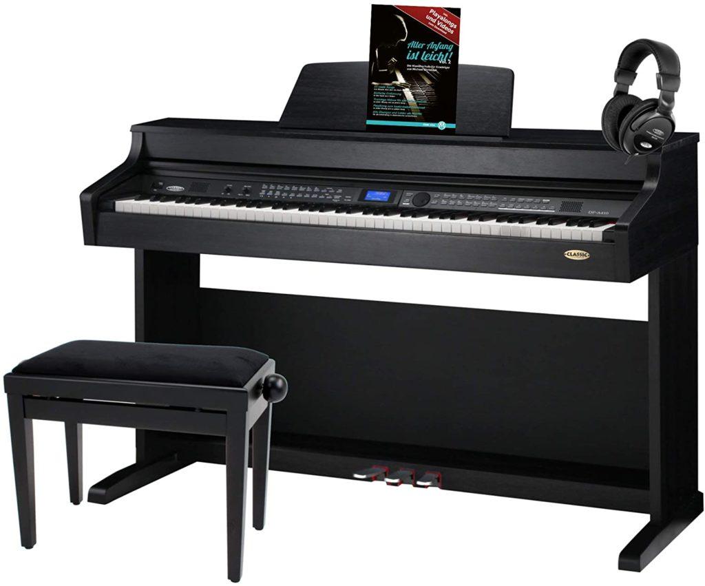 Classic Cantabile DP-A 410 SM E-Piano Set inkl. Bank